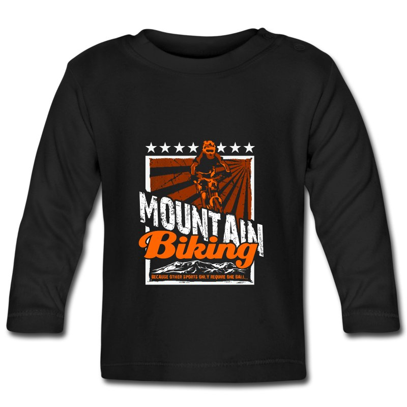 Mountain bike baby long sleeve t shirt spreadshirt for Mountain long sleeve t shirts