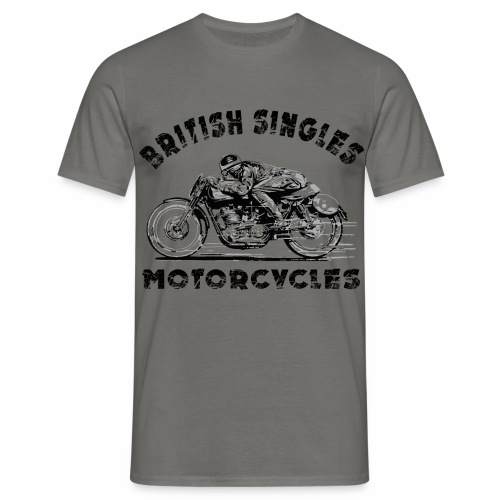 British Singles Motorcycles - T-skjorte for menn