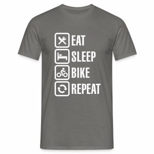 Eat Sleep Bike Repeat - Men's T-Shirt