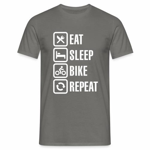 Eat Sleep Bike Repeat - Men's T-Shirt