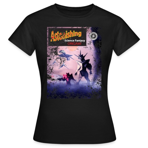 Womens Astonishing Origami Black T Shirt - Women's T-Shirt