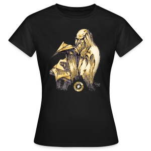 Womens Leonardo paper plane Black T Shirt - Women's T-Shirt