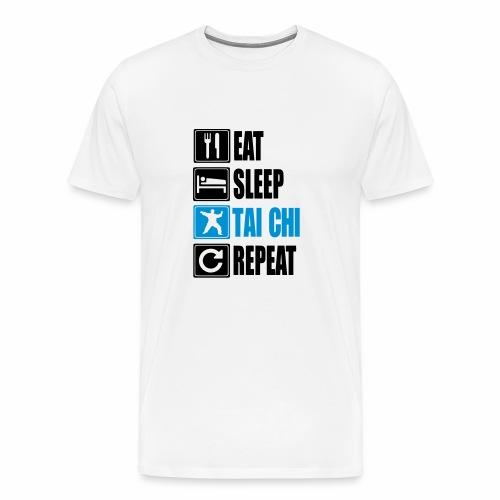 Eat Sleep Taiji Repeat MEN WHITE - Männer Premium T-Shirt