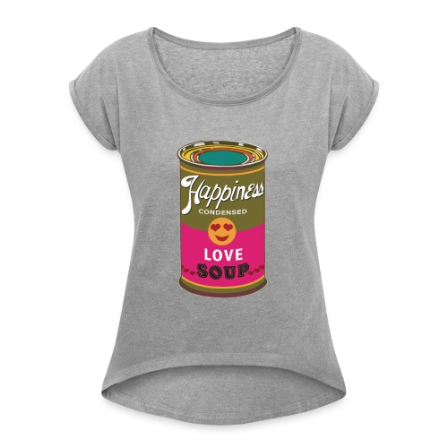 HAPPINESS - T-shirt à manches retroussées Femme