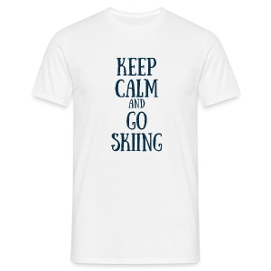 KEEP CALM AND GO SKIING - T-shirt Homme