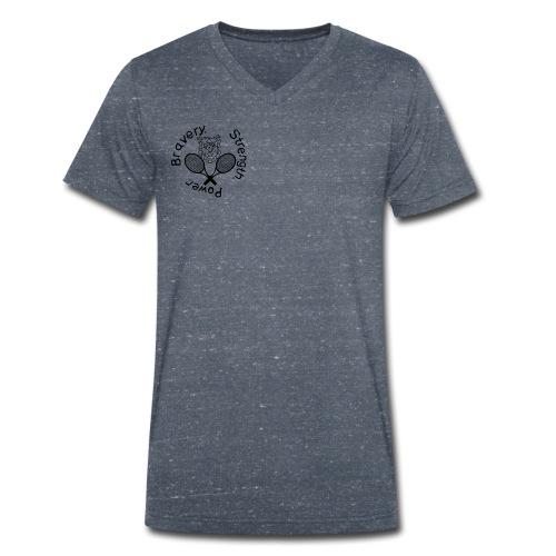 T-Shirt Kämpferherz (Abschlussprojekt A. Geppert) - Männer Bio-T-Shirt mit V-Ausschnitt von Stanley & Stella