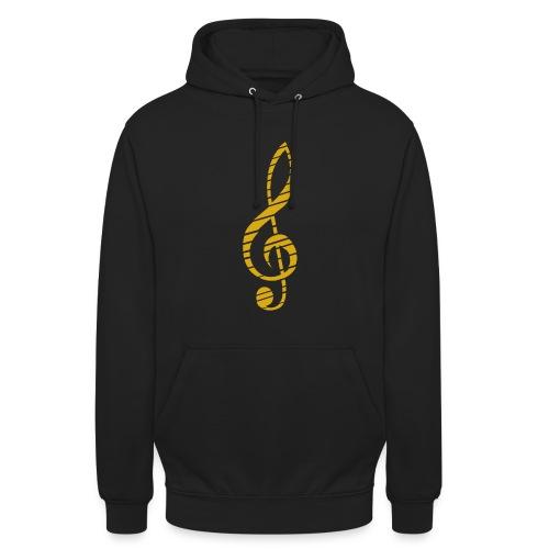 Golden Music Key Hoodie M - Unisex Hoodie
