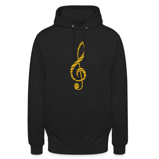 Golden Music Key Hoodie M