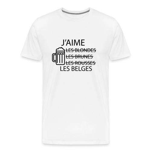 T-shirt - J'aime les belges - T-shirt Premium Homme