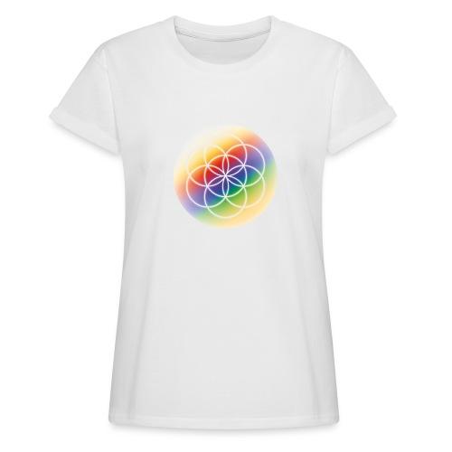 Saat des Lebens - Seelenlicht Orakel - Frauen Oversize T-Shirt