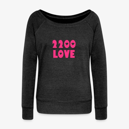 2200 LOVE - Women's Boat Neck Long Sleeve Top