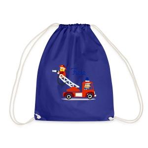 'Firefighter' Fiete Sports Bag - blue - Turnbeutel