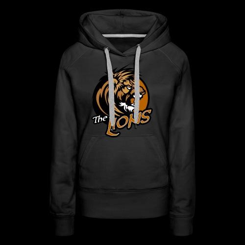 Lions single sided printed womens hoodie - Women's Premium Hoodie