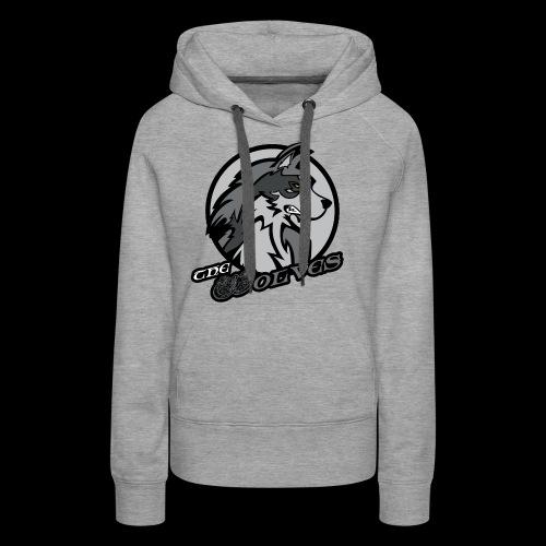 Wolves single sided printed womens hoodie - Women's Premium Hoodie