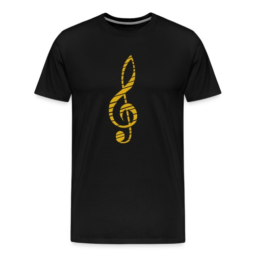 Golden Music Key T-Shirt M - Men's Premium T-Shirt