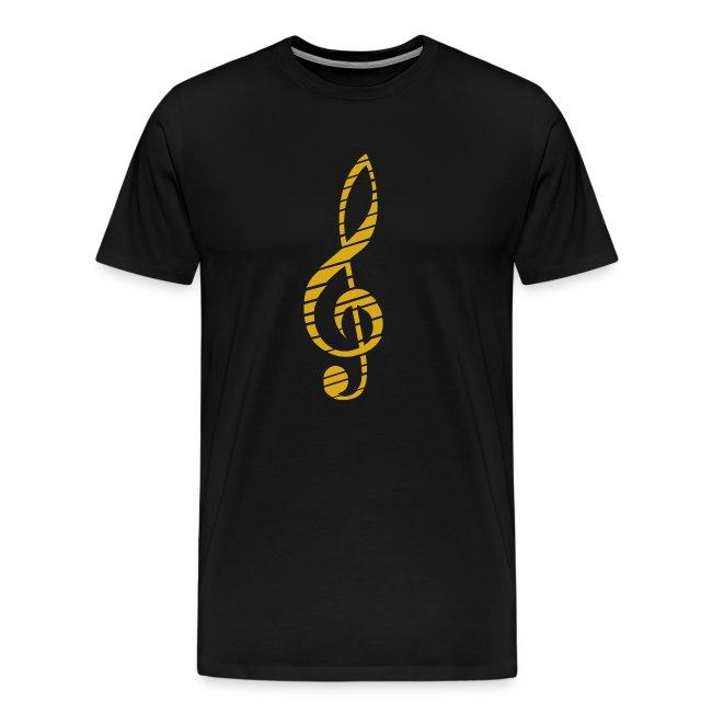Golden Music Key T-Shirt M