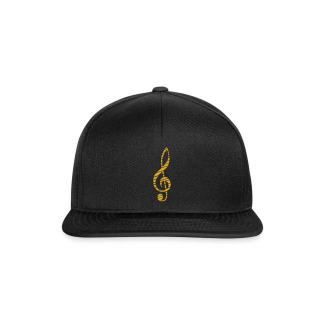 Golden Music Key Snapback Cap Bla