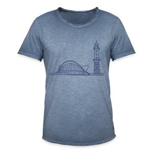 Leuchtturm Warnemünde Rostock. - Männer Vintage T-Shirt