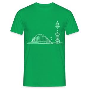 Leuchtturm Warnemünde Rostock. - Männer T-Shirt