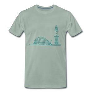 Leuchtturm Warnemünde Rostock. - Männer Premium T-Shirt