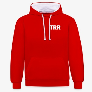 Contrast Colour Hoodie - Hoodie with un-official TRR logo!