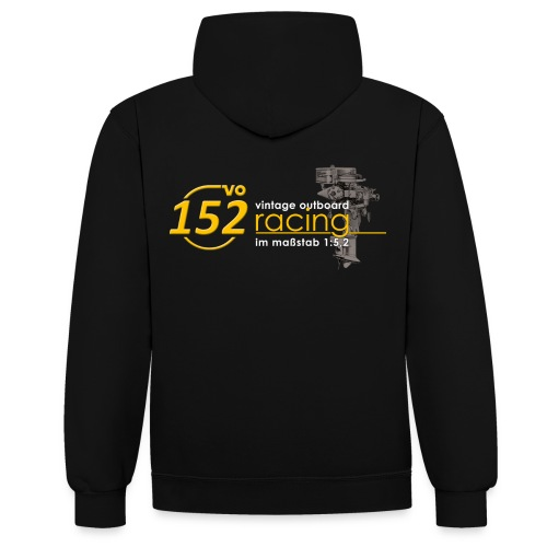 152VO Crew Hoodie (beidseitig bedruckt) - Kontrast-Hoodie