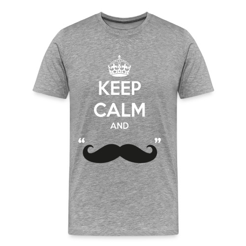 Keep calm and moustache - Männer Premium T-Shirt
