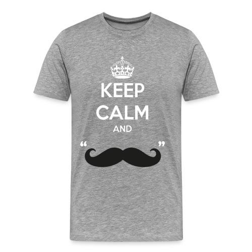 Keep calm and moustache - Männer Premium T-Shirt