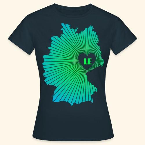 Ein Herz für Leipzig - Frauen T-Shirt