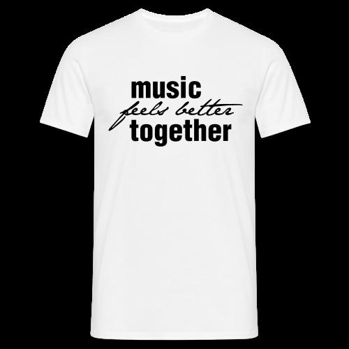 Männer T-Shirt hell / Print dunkel - Männer T-Shirt