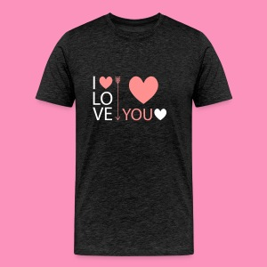 I love you - Männer Premium T-Shirt