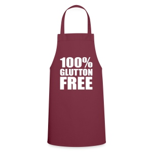 100% Glutton Free Diet Humor - Cooking Apron