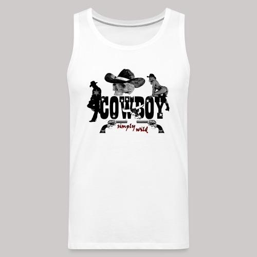 simply wild Cowboy - Männer Premium Tank Top