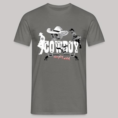 simply wild Cowboy - Männer T-Shirt