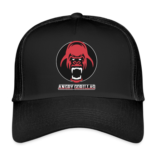 ANGRYGORILLAS Snapback Pearlblack (Logo) - Trucker Cap
