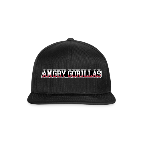 ANGRYGORILLAS Snapback Black (Font) - Snapback Cap