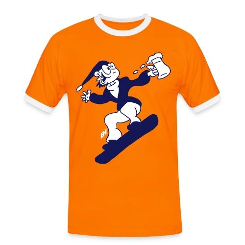 Snowboard med en öl T-shirts - Men's Ringer Shirt