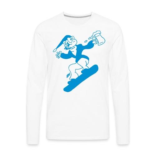 Snowboard med en öl Långärmade T-shirts - Men's Premium Longsleeve Shirt