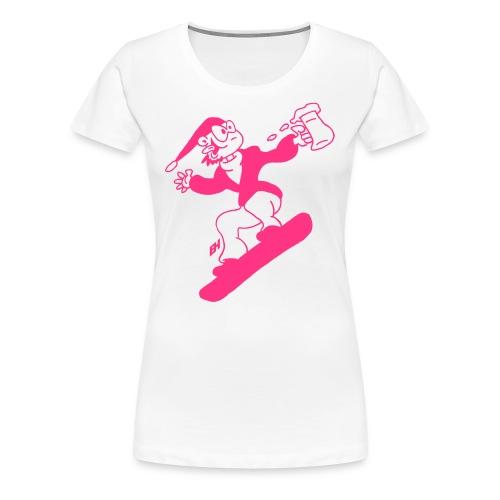 Snowboarden mit einem Bier - Frauen Premium T-Shirt