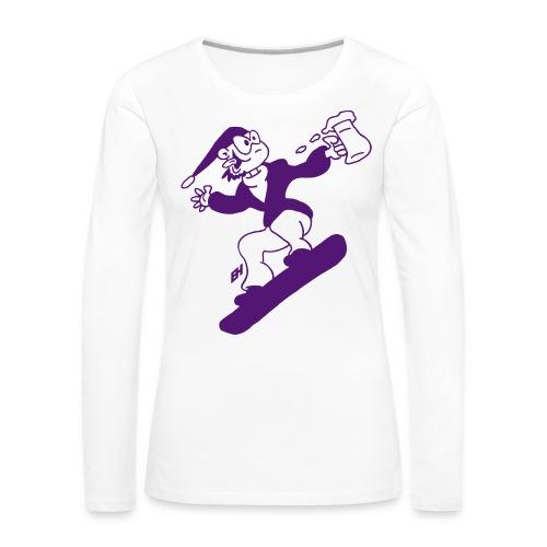 Snowboard med en öl Långärmade T-shirts - Women's Premium Longsleeve Shirt