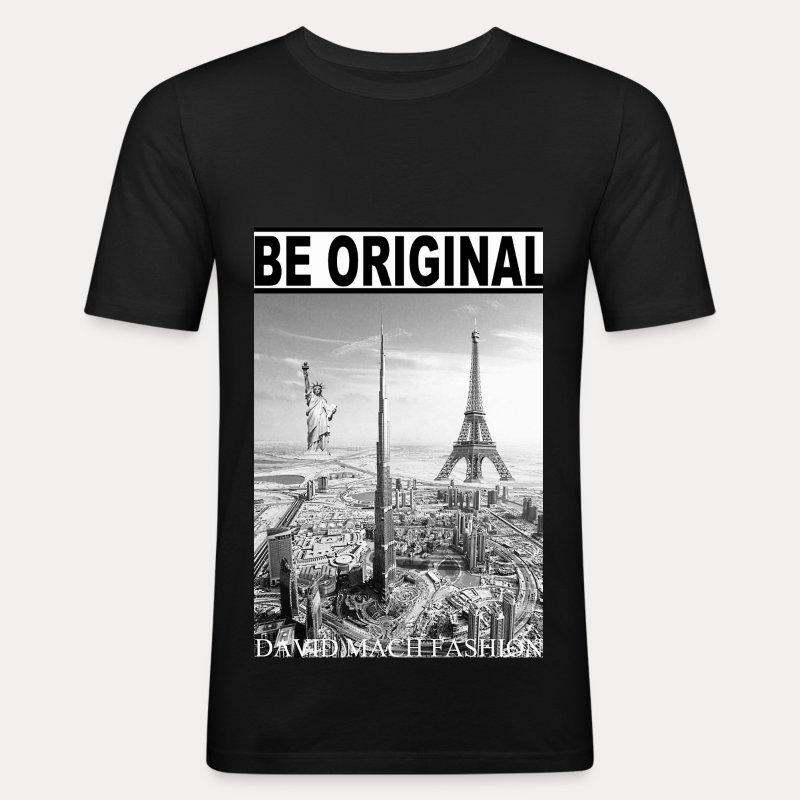 T-shirt Homme Be Original - Tee shirt près du corps Homme
