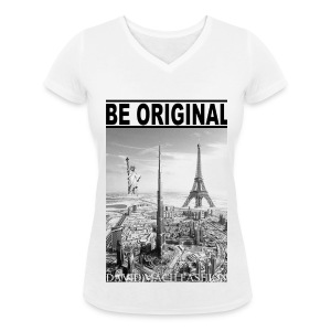 T-shirt Girl Be Original - T-shirt col V Femme