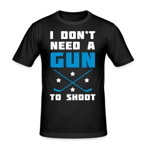 I Don't Need A Gun To Shoot Men's Slim Fit T-Shirt - Men's Slim Fit T-Shirt