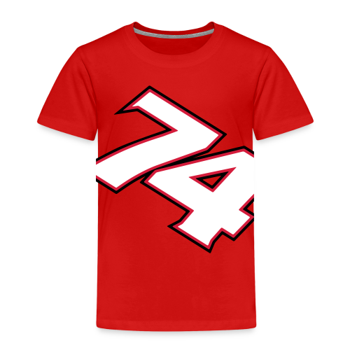 NEW! #74 Red/White, childrens t-shirt - Premium-T-shirt barn