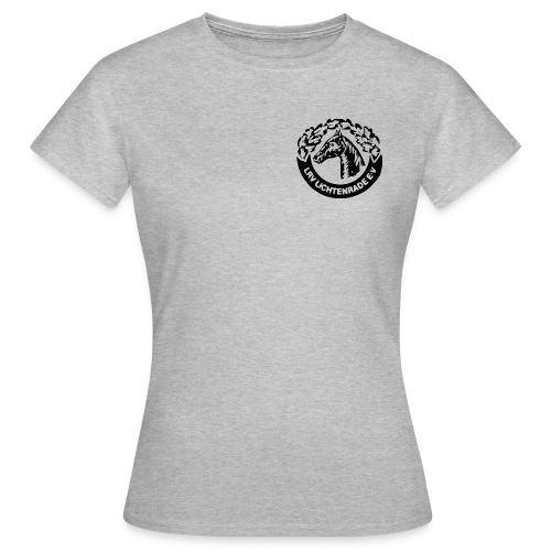 Mintfarbenes Shirt mit LRV-Logo vorn und hinten - Frauen T-Shirt