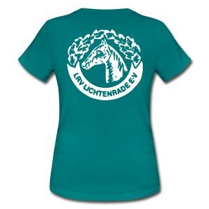 Petrol Shirt mit LRV-Logo vorn und hinten - Frauen T-Shirt