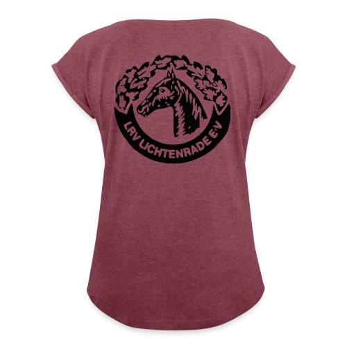 Shirt mit LRV-Logo hinten und gerollten Ärmeln - Frauen T-Shirt mit gerollten Ärmeln