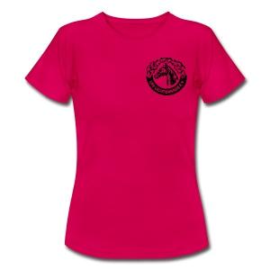 Pinkes Shirt mit LRV-Logo vorn und hinten - Frauen T-Shirt
