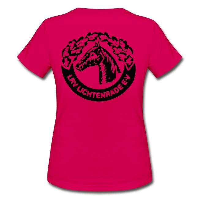 Pinkes Shirt mit LRV-Logo vorn und hinten