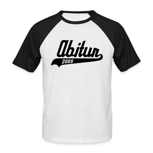Abi 05 black white - Männer Baseball-T-Shirt